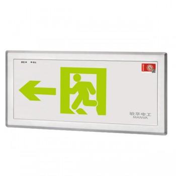 广东敏华电器有限公司_自电集挫嵌墙式不锈钢标志灯M-BLZC-1LRE I 0.5WZPE /M-BLZC-1LROE I 0.5WZPF
